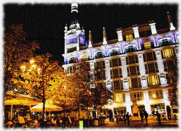 La Plaza de Santa Ana por la noche