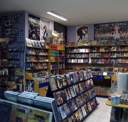 Imagen de la Tienda Librería Crisis Cómics de Madrid, obra del equipo de QueHacerEnMadrid.com